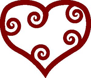 free vector Valentine Red Maori Heart clip art