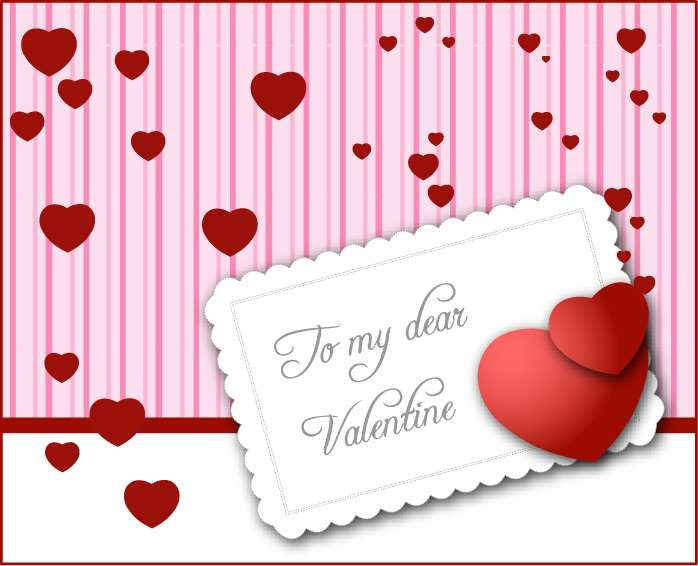 free vector Valentine's Day Card Vector Graphic