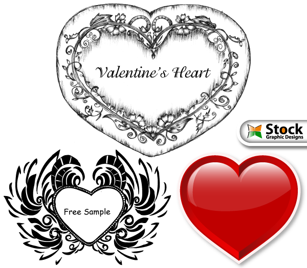 free vector Valentine's Heart Vector