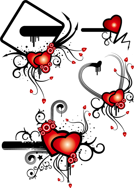 free vector Valentine\u0026#39;s day heart-shaped theme trend vector illustration