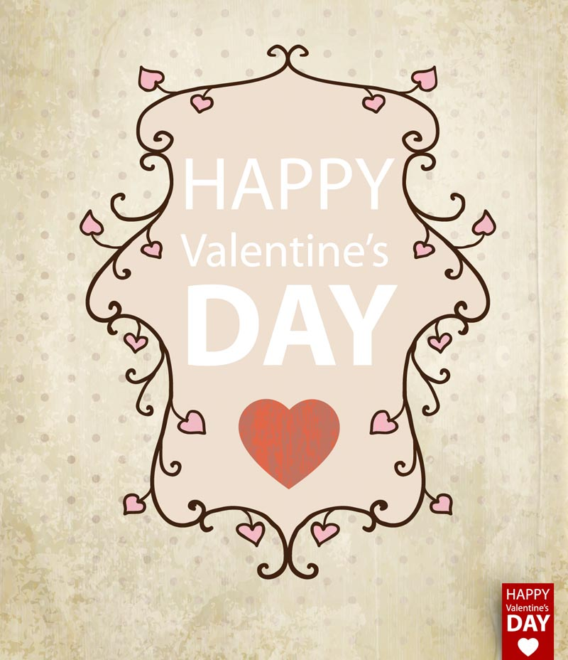 free vector Valentine39s day card background 01 vector