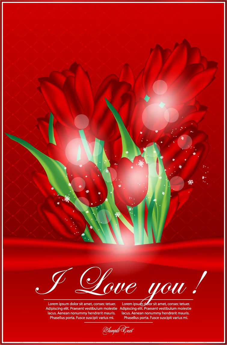 free vector Valentine39s day greeting card 01 vector
