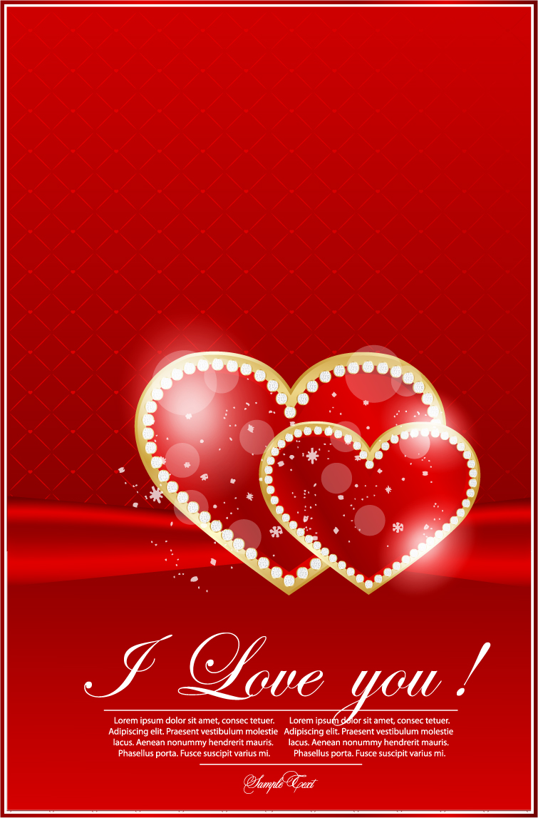 free vector Valentine39s day greeting card 02 vector