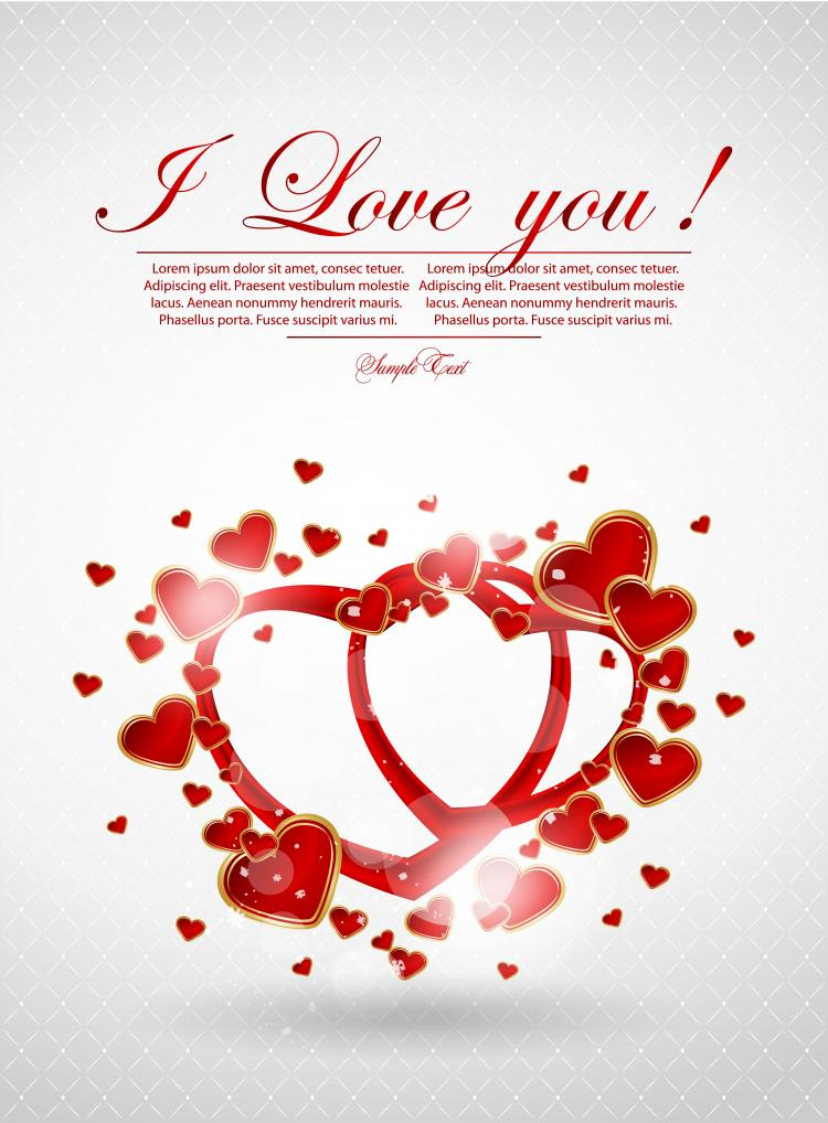 free vector Valentine39s day greeting card 04 vector