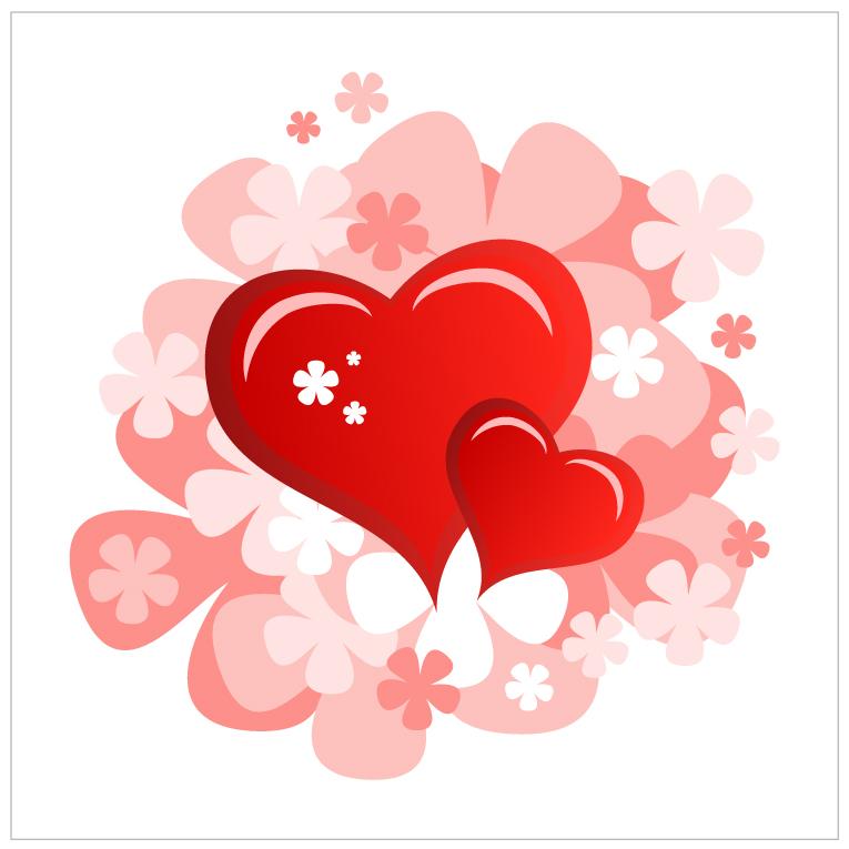free vector Valentine39s day heartshaped card 06 vector