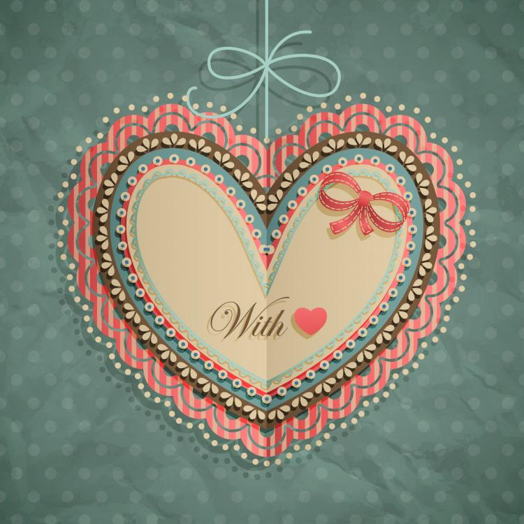 free vector Valentine39s day heartshaped tag 02 vector