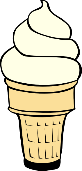 vanilla soft serve ice cream cone clip art free vector 4vector rh 4vector com free ice cream sundae clipart free ice cream clip art
