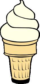 free vector Vanilla Soft Serve Ice Cream Cone clip art