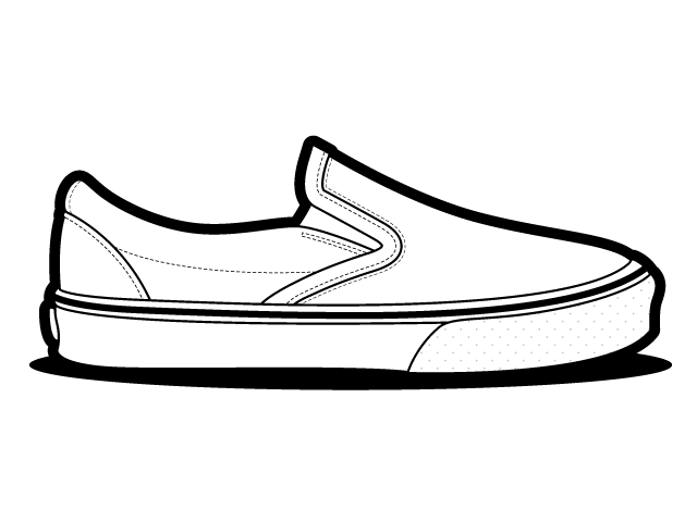Vans Classic Slip On Shoes Vector Vans Classic Slip On Free Vector ...