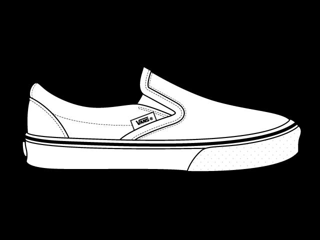 White Vans Drawings Vans Shoe Drawi