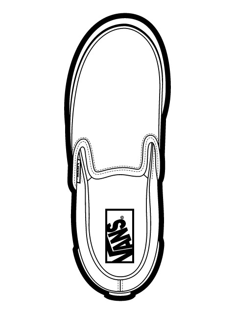 Vans Classic Slip On Shoes Vector Vans Classic Slip On 123695 on alarm clock graphic