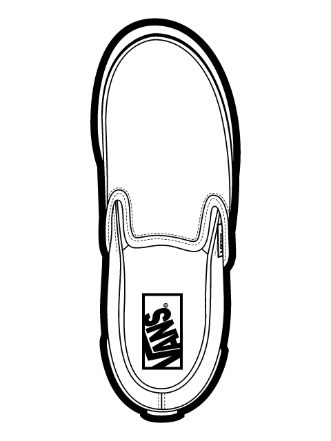 free vector  								Vans Classic Slip On