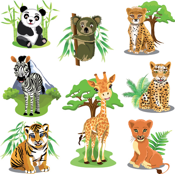 free vector Variety of animals vector
