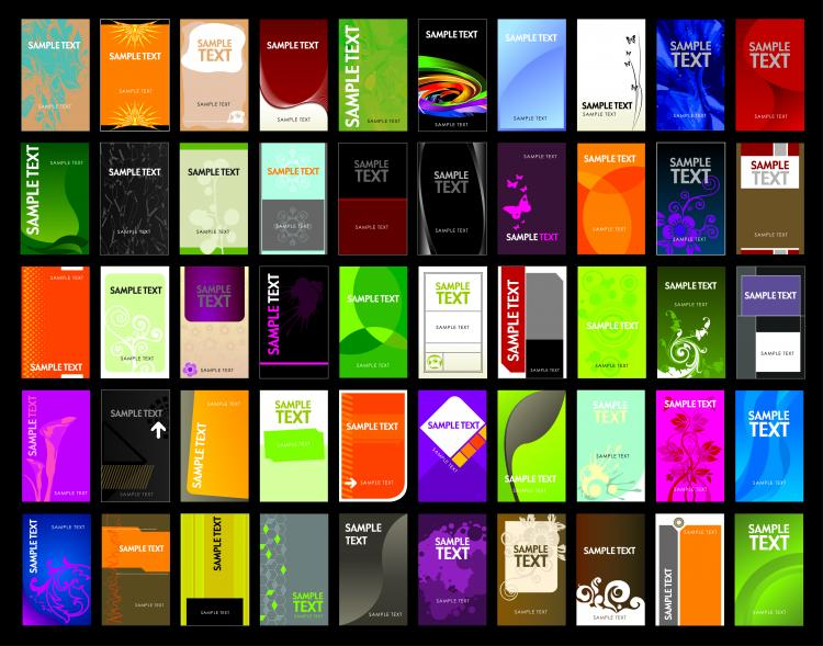 Variety of business card template 01 vector Free Vector / 4Vector