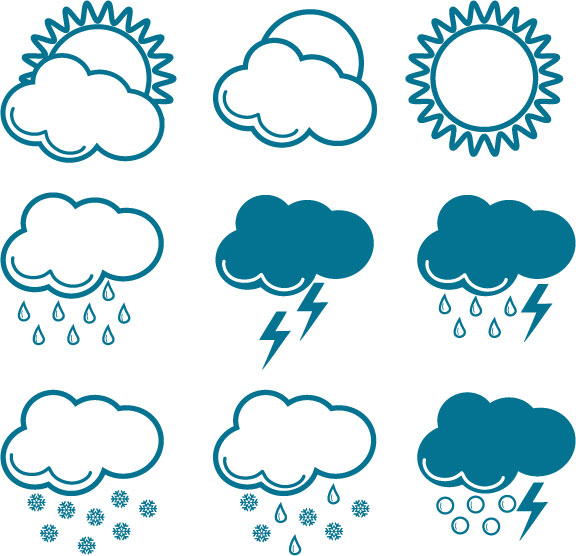 free vector Variety of changes in the weather icon vector