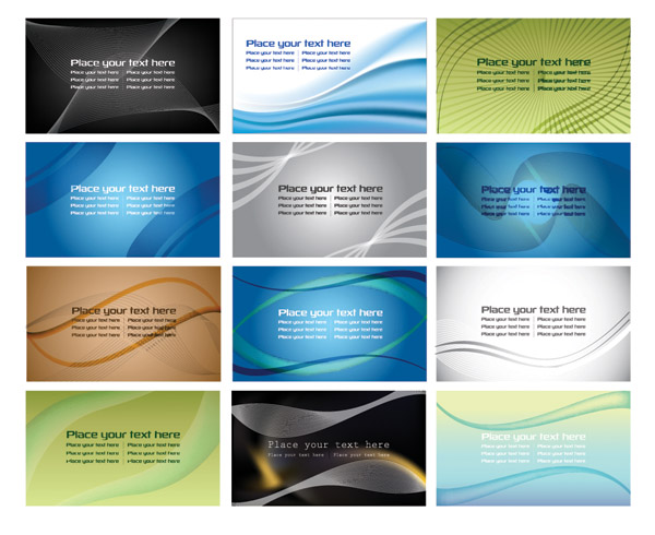 free vector Variety of dynamic lines of the background vector