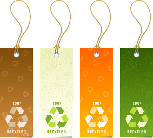 free vector Variety of environmental tag vector