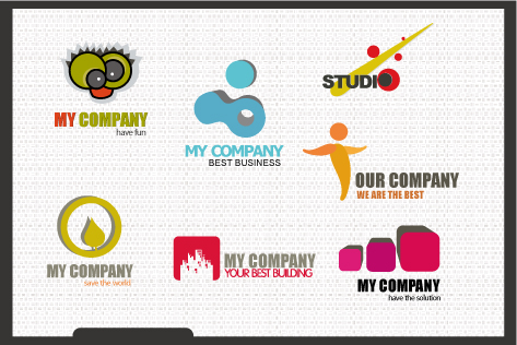 free vector Variety of logo template vector