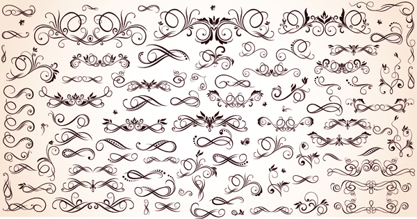 free vector Variety of patterns element vector