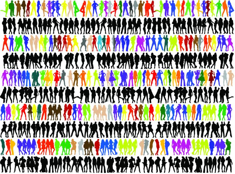 free vector Variety of people silhouette vector