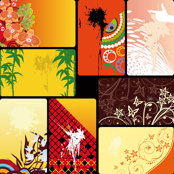 free vector Variety of practical card background vector