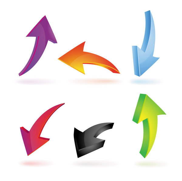 free vector Variety of practical dynamic arrow vector