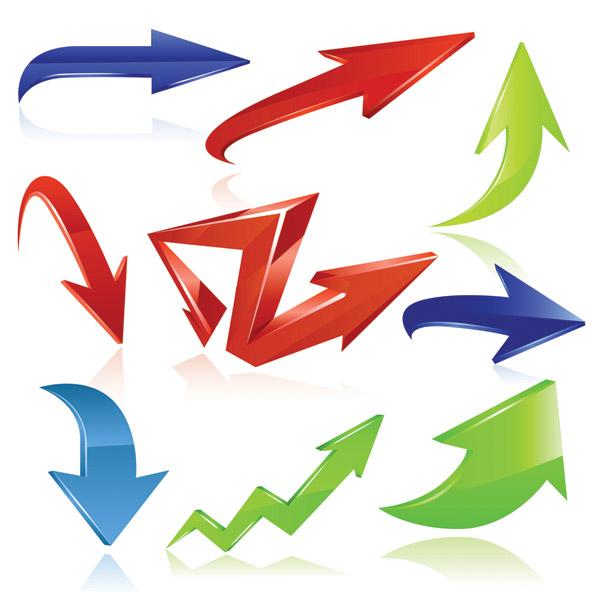 free vector Variety of practical dynamic arrow vector