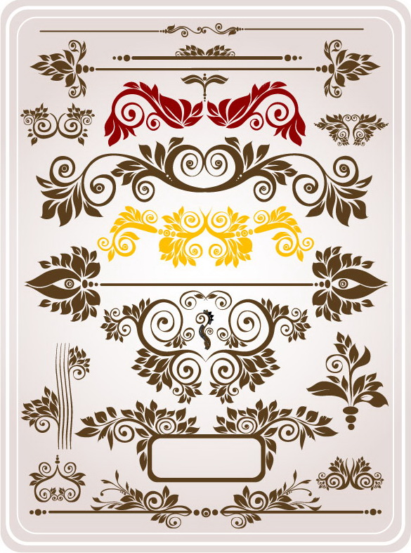 free vector Variety of practical gorgeous pattern vector material