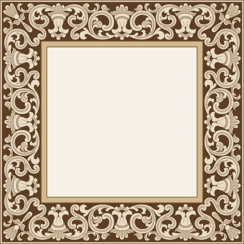 free vector Variety of practical materials lace borders vector