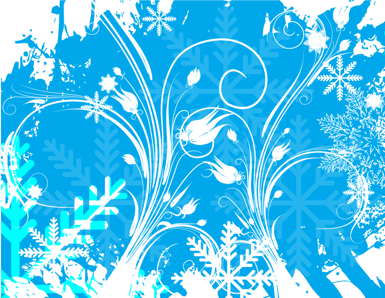 free vector Variety of snowflake theme vector