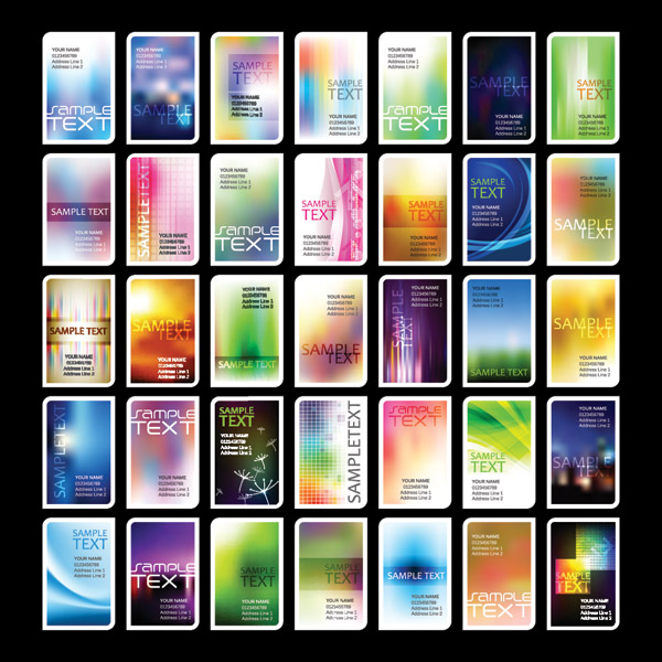 free vector Variety of symphony card background vector