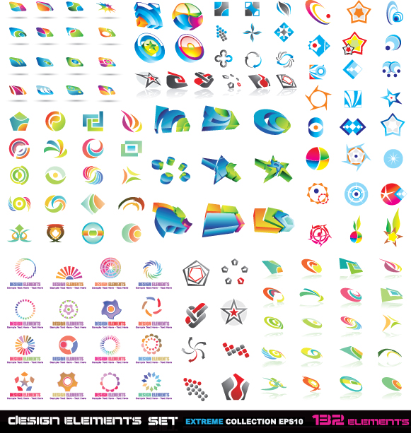 free vector Variety of threedimensional icon vector