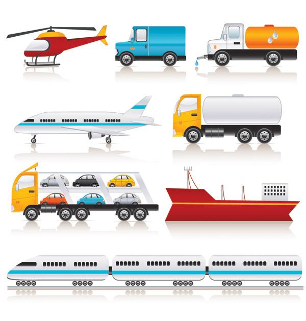 free vector Variety of transport vector