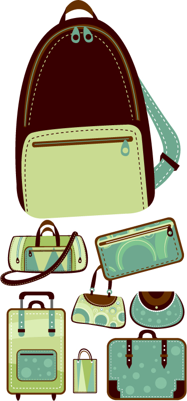 free vector Variety of vector bags