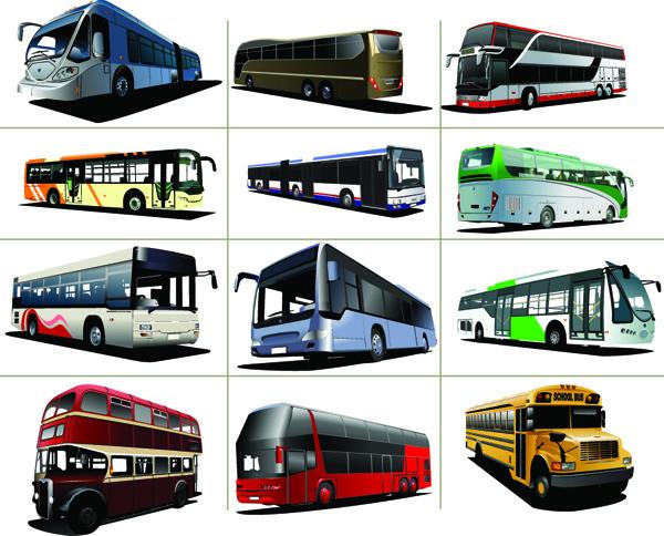 free vector Various bus bus vector 27322