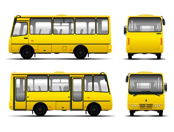 free vector Various bus bus vector