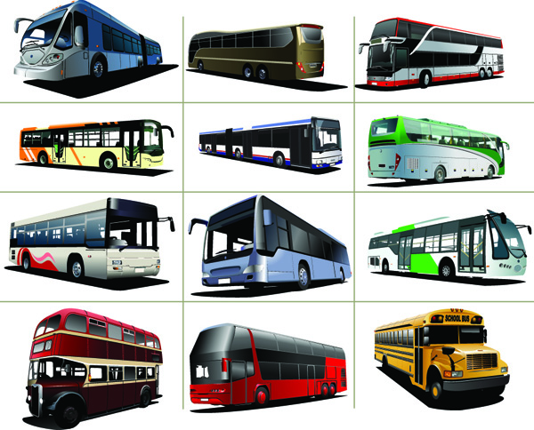 free vector Various BUS bus vector
