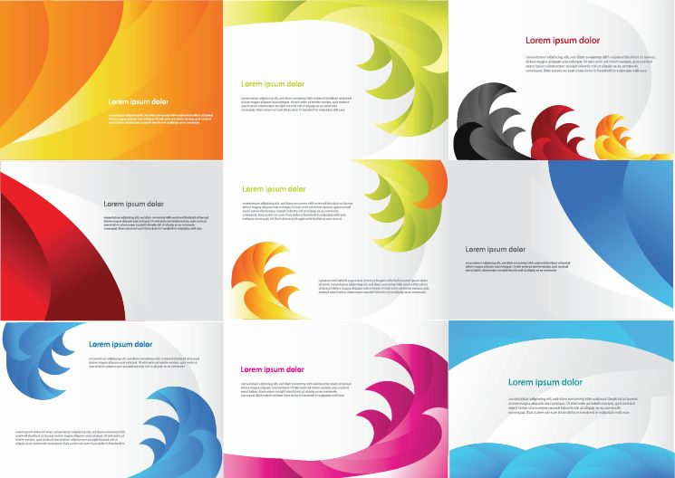 free vector Various Color Business Cards Vector