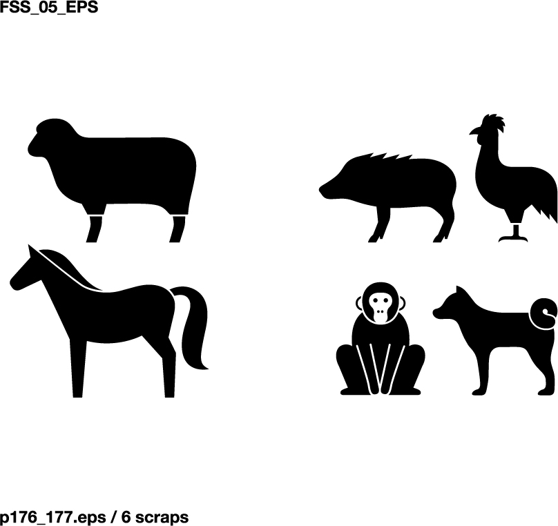 free vector Various elements of vector silhouette animal silhouettes 49 elements