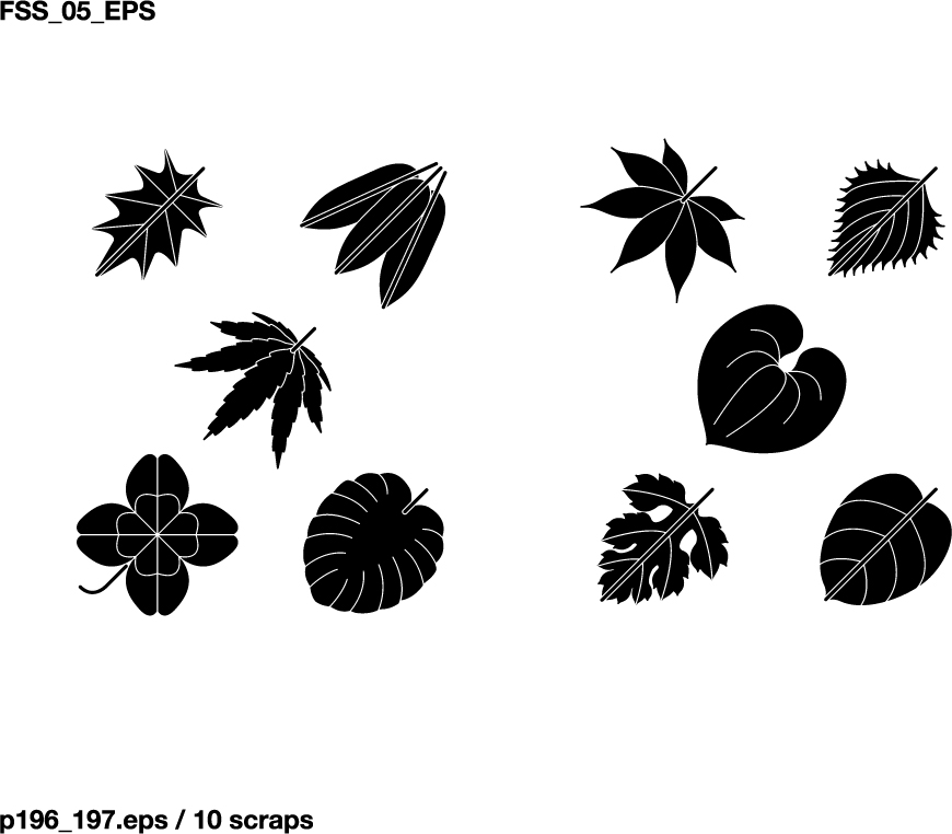free vector Various elements of vector silhouette flowers and trees 69 elements