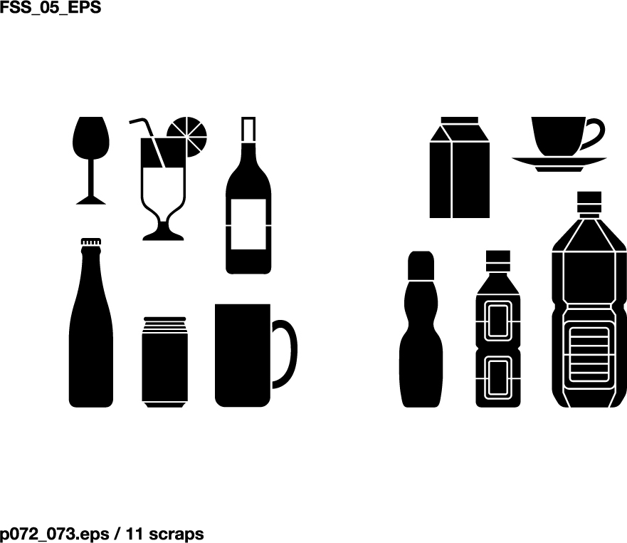 free vector Various elements of vector silhouette food category 59 elements