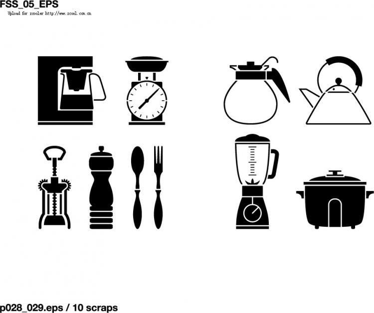 free vector Various elements of vector silhouette lifestyle 145 elements