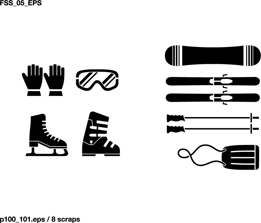 free vector Various elements of vector silhouette sports equipment equipment 51 elements