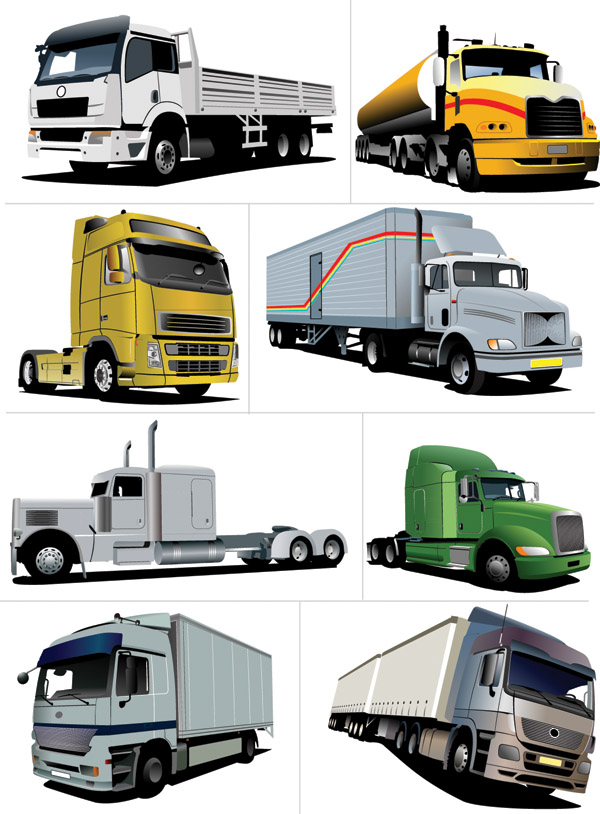 free vector Various large car vector