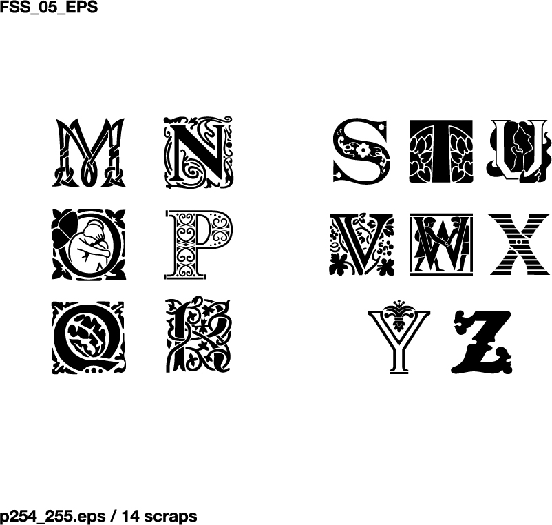 free vector Various silhouette vector elements fonts 65 elements concluded