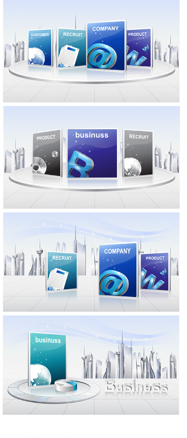 free vector Vector 2 business atmosphere