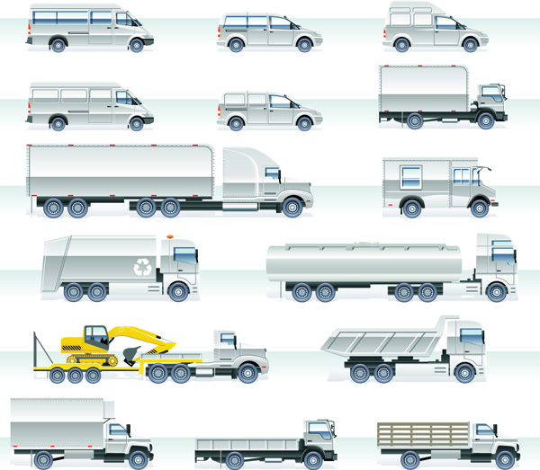 free vector Vector 2 heavyduty vehicles