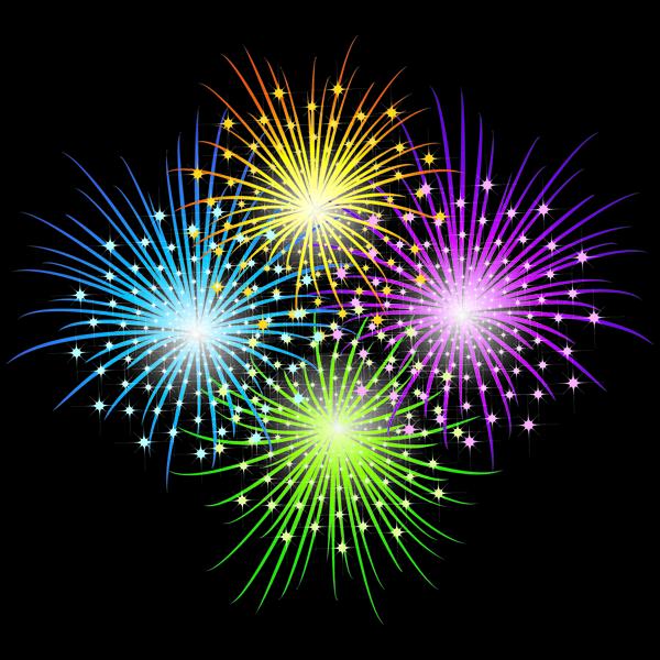free vector Vector 3 brilliant fireworks fireworks