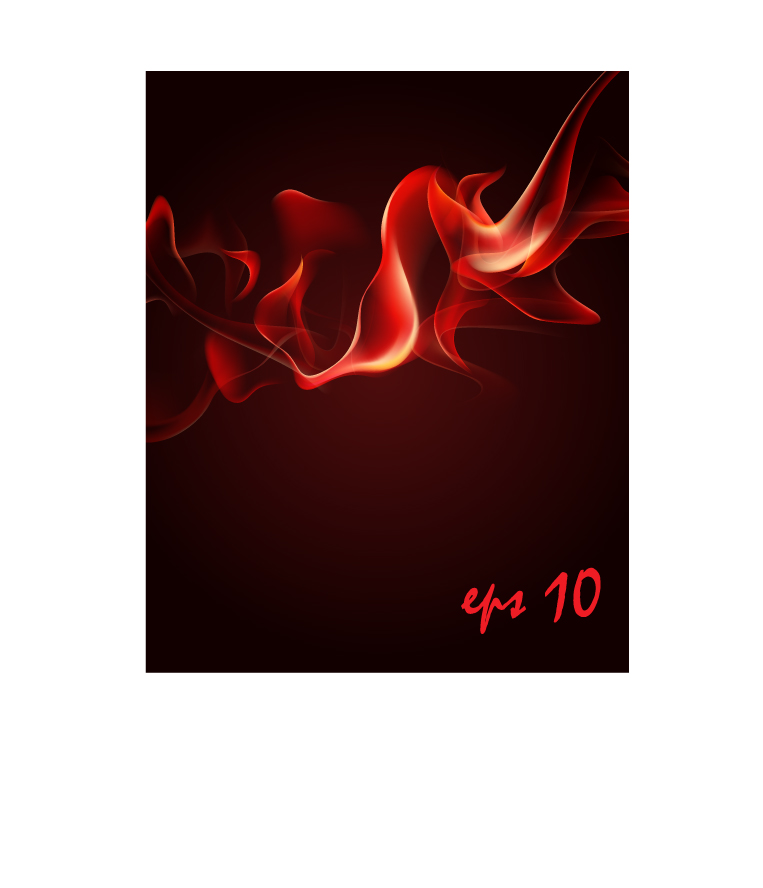 free vector Vector 3 flame red smoke