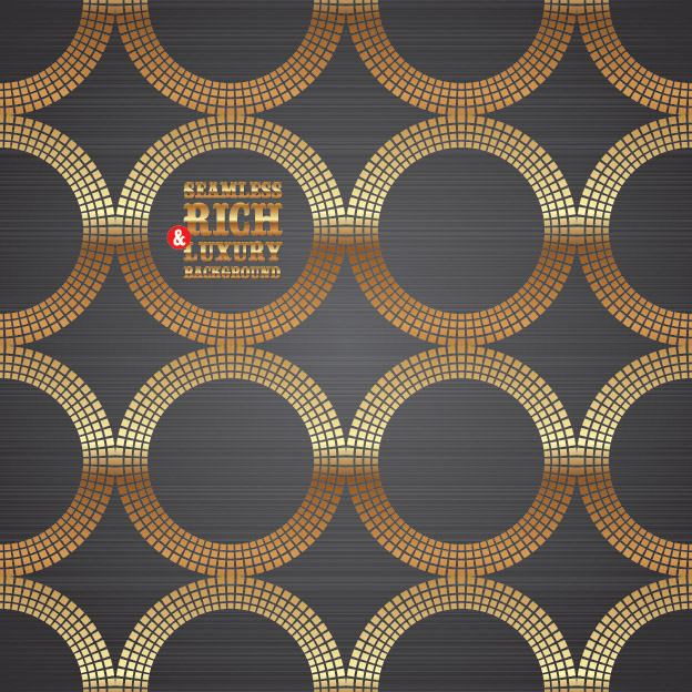 free vector Vector 3 gold circular background